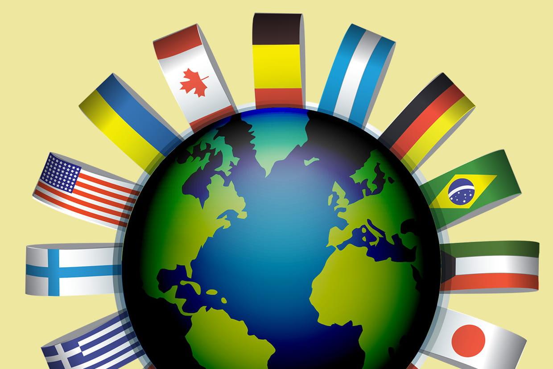 Coloriage drapeaux du monde A et B