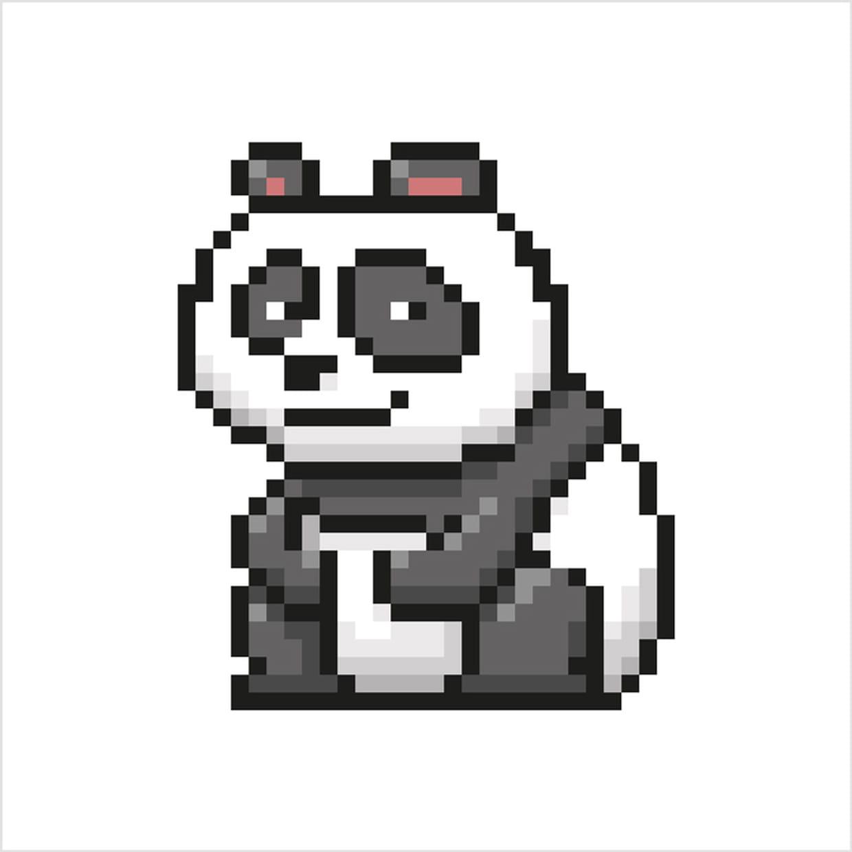 Panda En Pixel Art