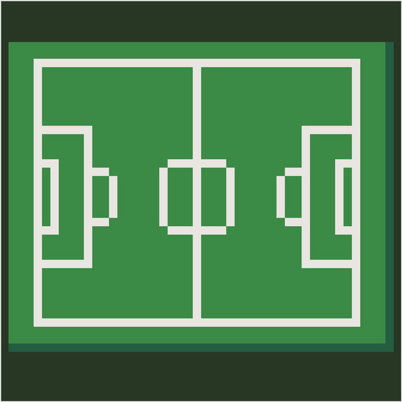 Terrain De Football En Pixel Art