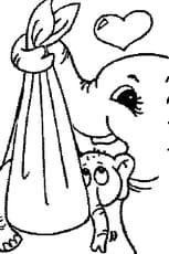 Coloriage Bebe Elephant.Coloriage Bebe Elephant En Ligne Gratuit A Imprimer