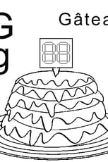 Coloriage lettre G comme gâteau en Ligne Gratuit à imprimer
