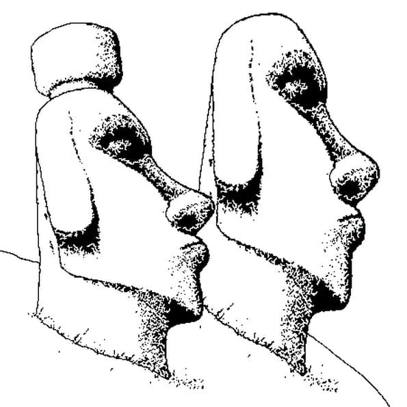 Dessin Statue a colorier