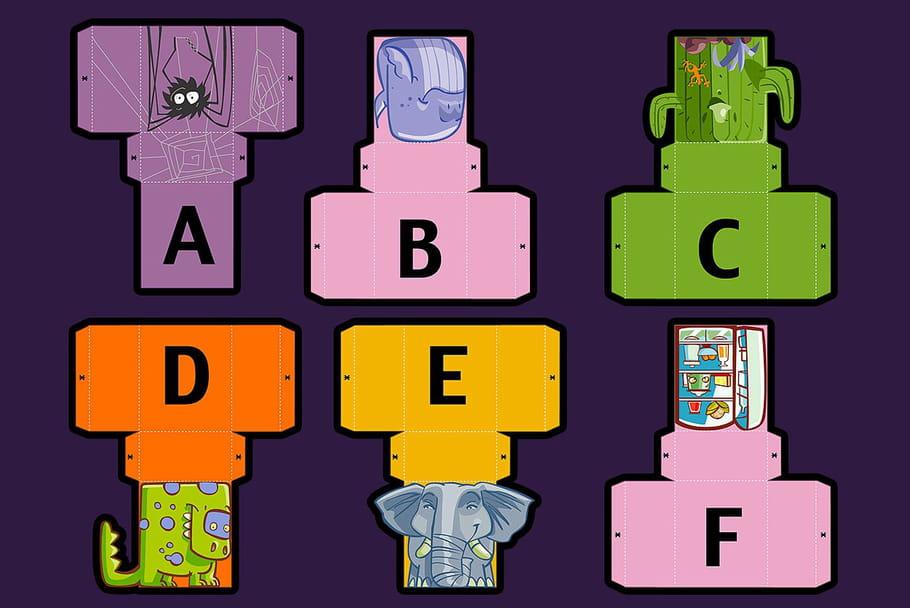 Lettres de l'alphabet à imprimer et découper