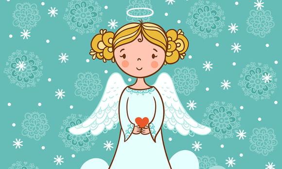 Coloriage Noël des anges