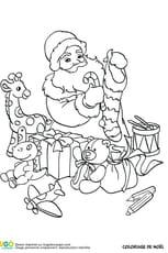 Jouets et papa Noël