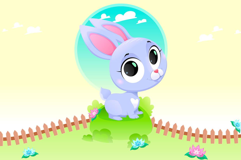 Coloriage lapins  imprimer