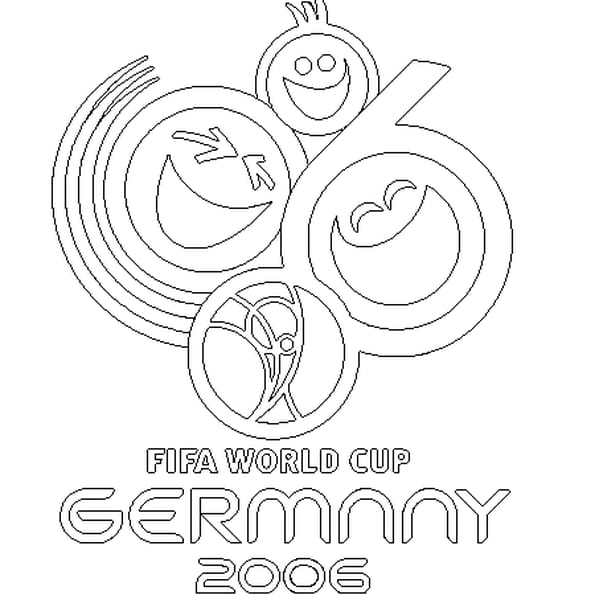 Dessin Germany 2006 a colorier