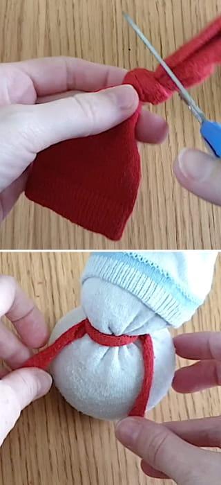 Étape 3: Créez l'écharpe rouge