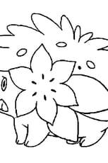 Coloriage Pokémon shaymin en Ligne Gratuit à imprimer
