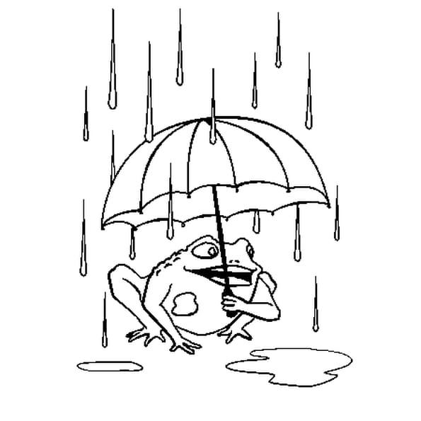 Dessin La Pluie a colorier