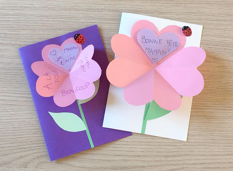 Carte Cœur En Forme De Fleur Fête Des Mères Video