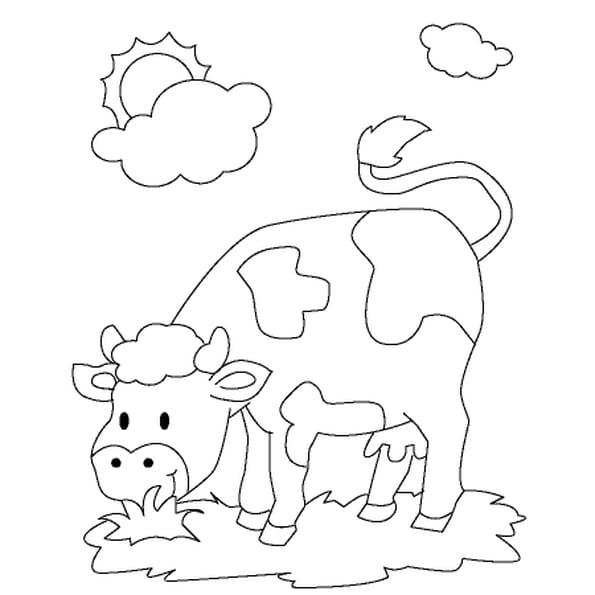 Dessin De vache a colorier