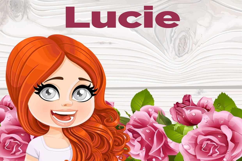 Coloriage Avec Le Prenom Lucie Avec Des Coeur