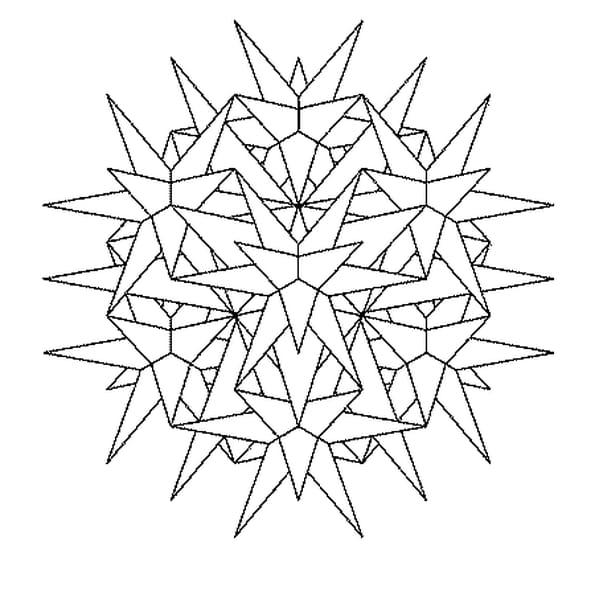 Dessin Mandala Cristaux a colorier