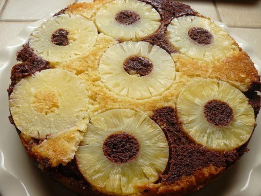 Gâteau marbré à l'ananas