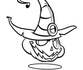 Citrouille d'Halloween avec chapeau
