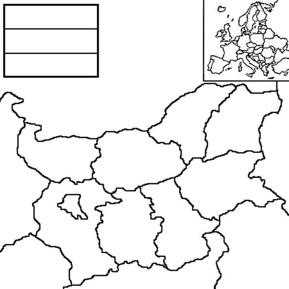 Dessin carte Bulgarie a colorier