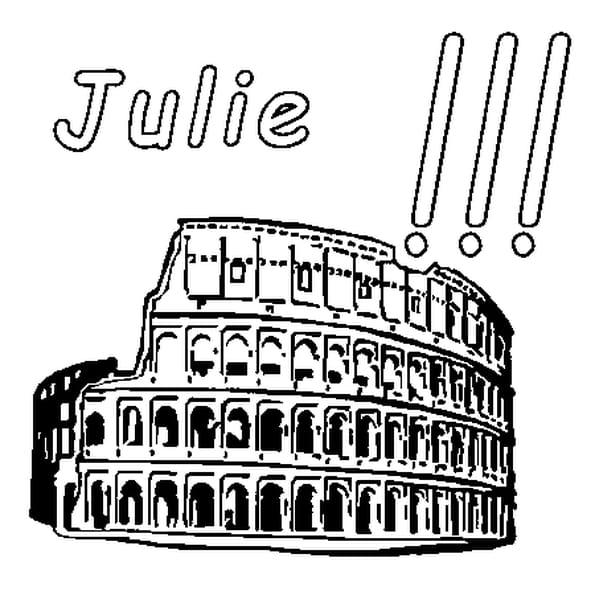 Coloriage Julie en Ligne Gratuit à imprimer