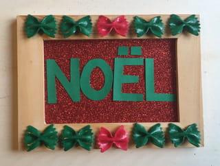 Tuto Carte de Noël Couronnes de pâtes Étape 6
