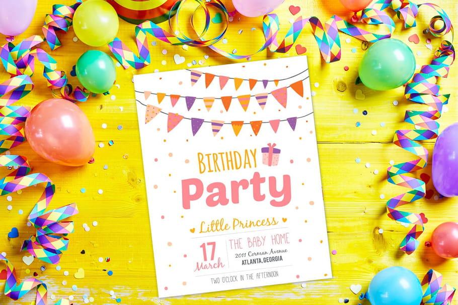 Invitation anniversaire: nos plus belles cartes gratuites à imprimer