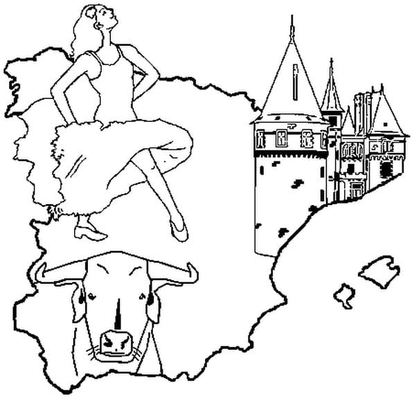 Espagne coloriage espagne en ligne gratuit a imprimer - Coloriage espagnol ...