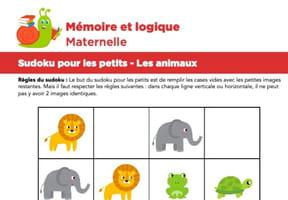 Sudoku pour les petits, les animaux