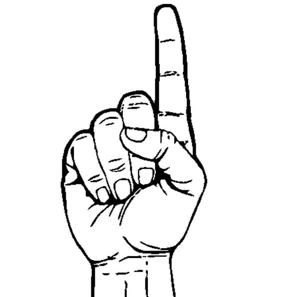 Main droite coloriage main droite en ligne gratuit a - Main en dessin ...