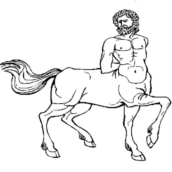 Dessin Centaure a colorier