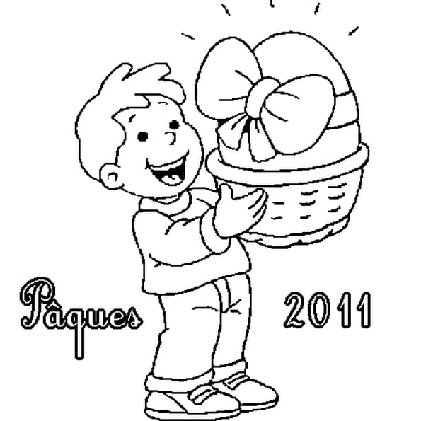 Dessin Pâques 2011 a colorier