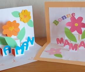 Carte fleurs Pop-Up pour la fête des Mères [VIDEO]
