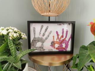 Vos empreintes de mains en peinture sont terminées!