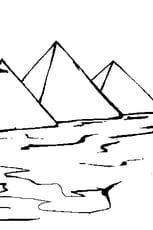 Coloriage pyramides