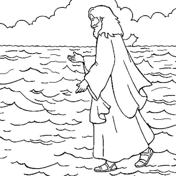 Dessin Jésus a colorier