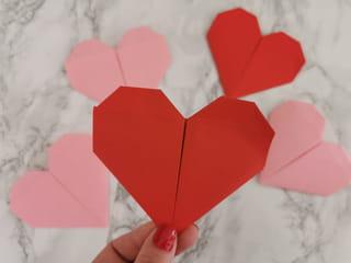 Votre origami cœur est maintenant fini!