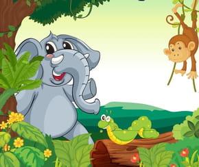 Le singe et l'éléphant