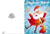 Carte Père Noël heureux