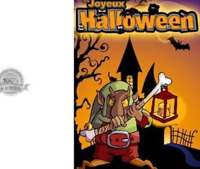 Carte de vœux Halloween Troll