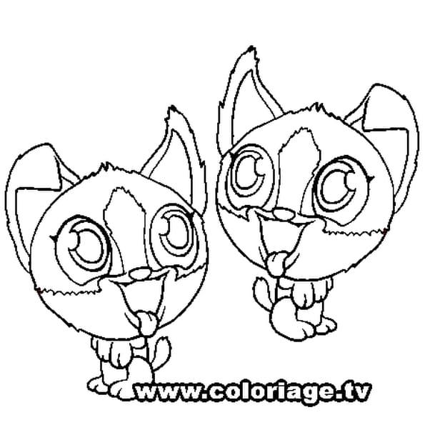 Dessin Zooble Jumeaux a colorier