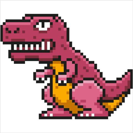 T Rex Dinosaure En Pixel Art