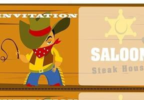 Carte invitation anniversaire cow-boy
