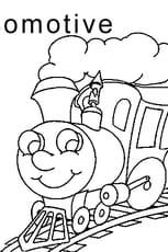 Coloriage lettre L comme locomotive