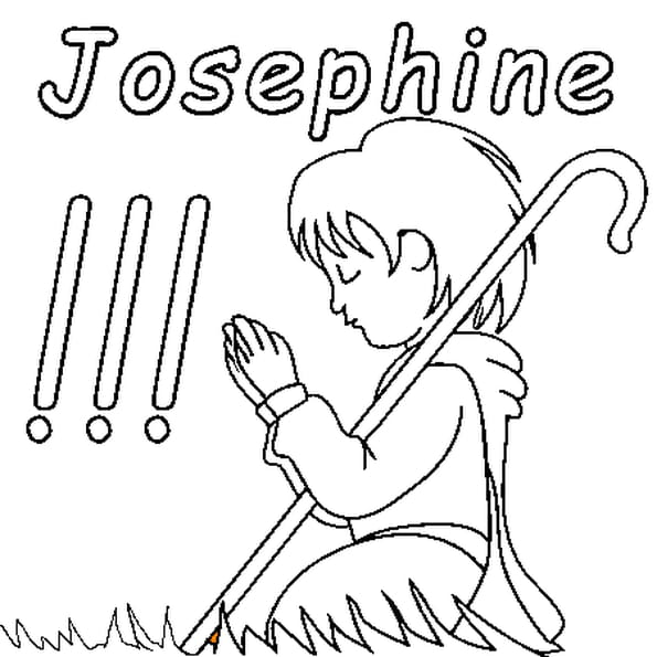 Dessin Joséphine a colorier
