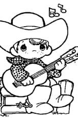 Coloriage Guitariste