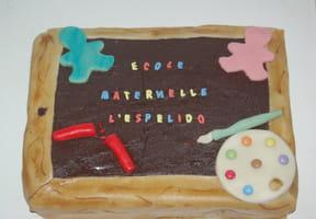Gâteau ardoise d'écolier