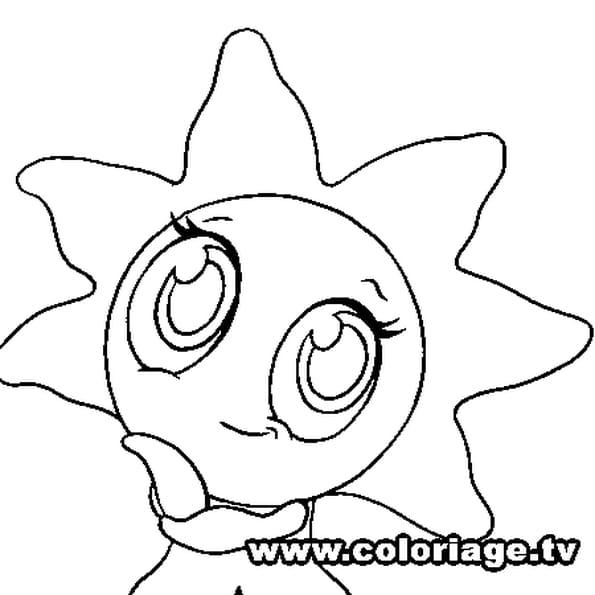 Dessin Zooble étoile de mer a colorier