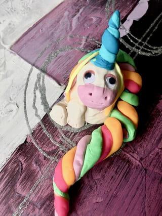 Votre licorne en pâte à modeler est terminée!
