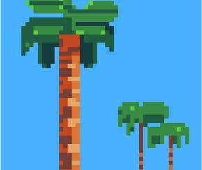 Palmiers en pixel art