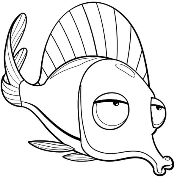 Coloriage poisson rouge en ligne gratuit imprimer - Poisson d avril a imprimer gratuit ...