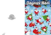 Carte de vœux motif Père Noël