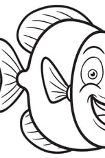 Coloriage Poisson Rond